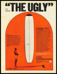 This is the first Ugly advertisement that appeared in the March, 1976 issue of Surfer Magazine.